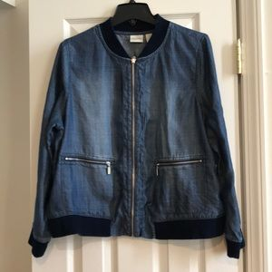 Soft Zenergy by Chico's Jean jacket with pockets